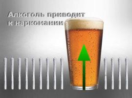 Алкоголь приводит к наркомании