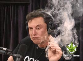 Илон Маск курит косяк